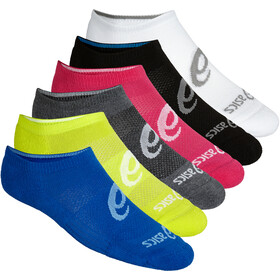 asics Invisible Socks 6-Pack, black assorted